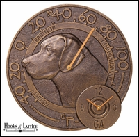 "14"" Labrador Thermometer Clock"