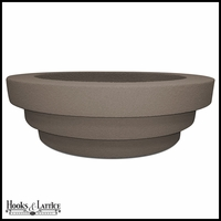 Lismore Low Bowl Planter - Concrete Grey