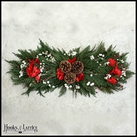 "24"" Holiday Red Centerpiece"
