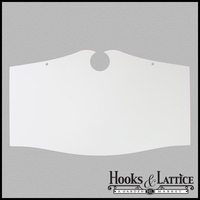 "14""x24"" Estate Style Sign Blank - Aluminum"