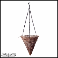 14in. Gracewood Wicker Cone Hanging Basket