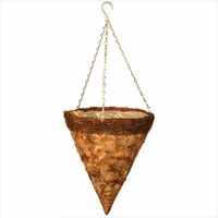 14in. Larkwood Pressed Leaf Cone Basket