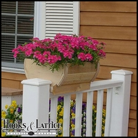 14in. Rounded Cedar Deck Rail Planter - Half Barrel Design