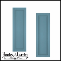 15in. Wide - Architectural Collection Raised Single Panel Shutters (pair)