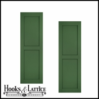 15in Wide - Architectural Collection Raised Two Panel Composite Fiberglass Shutters (pair)