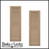 15in. Wide - Classic Collection  Wood & Resin Composite Louvered Shutters (pair)