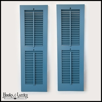 12in. Wide - Never-Fail Operable Louvered PVC Composite Exterior Shutters (Pair)