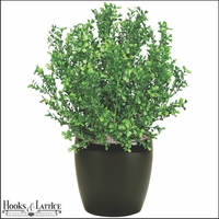 "16"" Artificial Boxwood Bush Outdoor Rated"