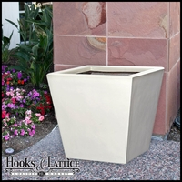 "16"" Fiberglass Gloss White Tapered Planter"