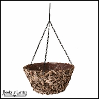 16in. Amalia Natural Tapered Hanging Basket