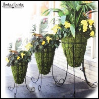 16in. Beehive Planter with Tripod Stand with Mossmat