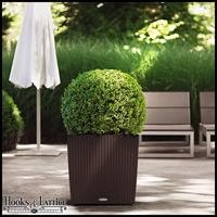 16in. Cottage Weave CUBE Self-Watering Planter