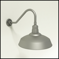 17in. Warehouse Shade Goosenck Light - 5 Gooseneck Arm Options