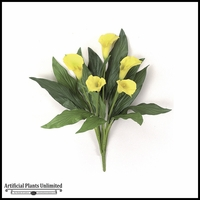 "18"" Calla Lily Bush - Yellow 