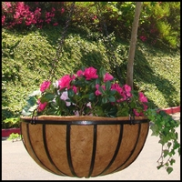 "18"" English Garden Flat Steel Hanging Basket"
