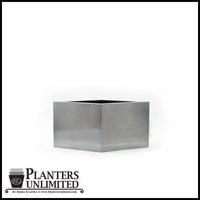 Stainless Steel Commercial Planter 18in.L x 18in.W x 12in.H