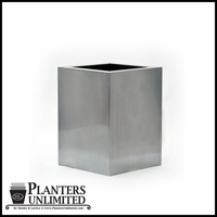 Stainless Steel Commercial Planter 18in.L x 18in.W x 24in.H