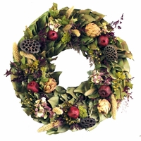 18in. Dried Floral Favorites Wreath