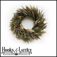 18in. Fragrant Floral Wreath w/ Green Wreath Hanger