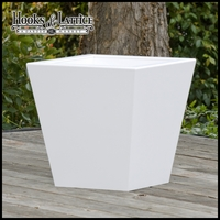 18in. Tapered Urban Chic Premier Deck Planter No Feet|18in. W x 18in. H
