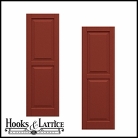 18in. Wide - Classic Collection Two Equal Raised Panel Shutters (pair)
