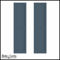 18in. Wide - Painted Cedar Flat Panel Design Exterior Shutters (Pair)
