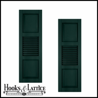 18in. Wide With Additional Panel - Architectural Collection Combination Composite Fiberglass Shutters (pair)