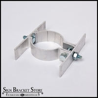 "2 3/8"" Round Center Mount Sign Bracket - Double-sided"