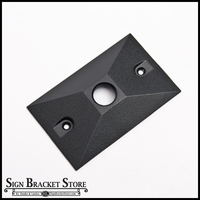 "2 7/8"" x 4 5/8"" Rectangular Cover Plate for 1/2"" dia. Arm"