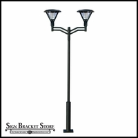 2 Light Post Mount Fixture - 120v Powder Coated Cast Aluminum
