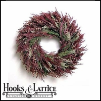 20in. Scented Burgundy Wreath w/ Green Wreath Hanger