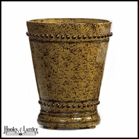 Guardia Fiberglass Round Planter - Burnt Orange/Brown