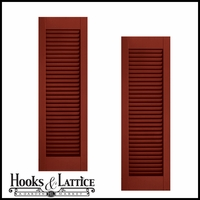 21in. Wide - Architectural Collection Fixed Louvered Composite  Fiberglass Shutters (pair)