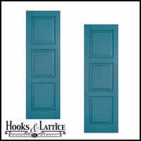 21in. Wide Classic Collection Raised 3 Equal Panel Shutters (pair)