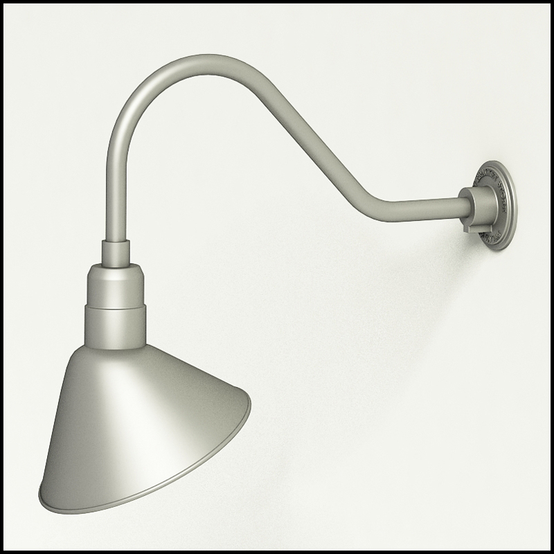 gooseneck light aluminum w x 9 h arm with 12in angle