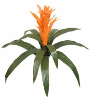 "22"" Artificial Guzmania Bromeliad - Outdoor - Orange"