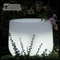 22in. Dia. x 31in.H Argento Lighted Planter