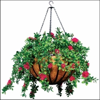 "22"" Hanging Basket with 5 Artificial Plants"