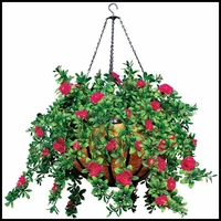 "22"" Hanging Basket with 7 Artificial Plants"