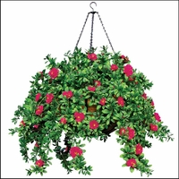 "22"" Hanging Basket with 9 Artificial Plants"