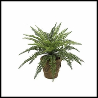 "23"" Outdoor Rated Artificial Boston Fern"