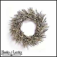 23in Pussy Willow Wreath