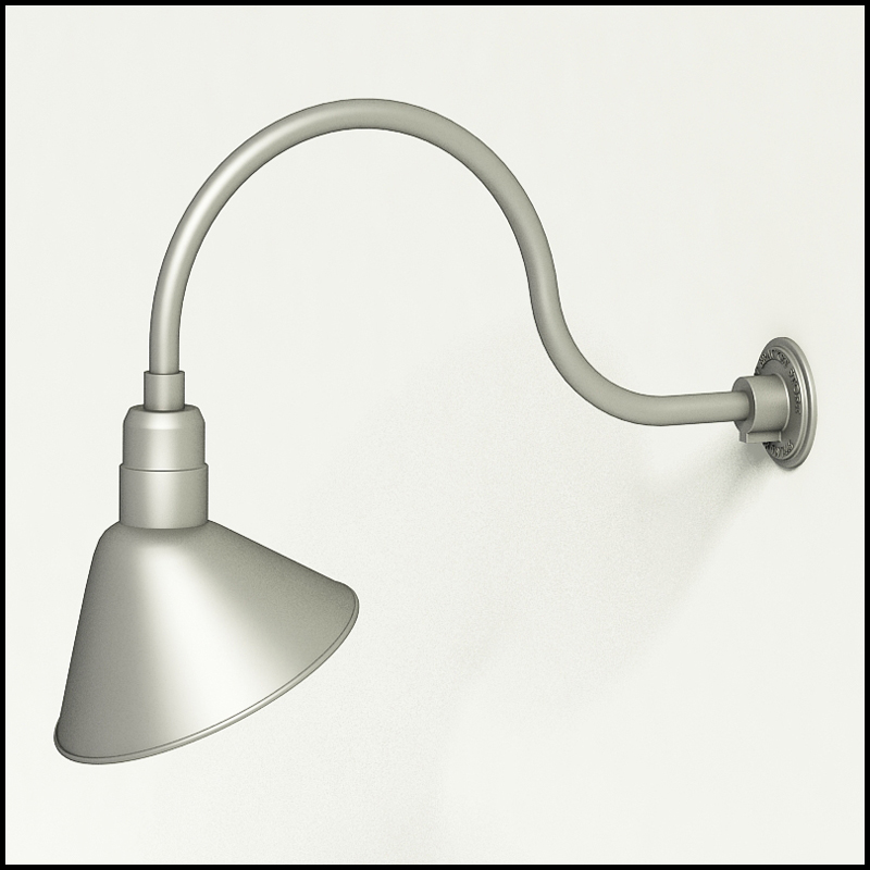 gooseneck rlm light 24 3 4 l x 3 4 dia arm 12 angle