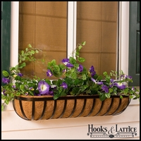 "24"" Deluxe English Garden Window Box w/ Std. Coconut Coir Liner"