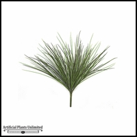 24in. Grass Bush - Two Tone Green|Indoor