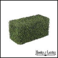 "24""L x 12""W Outdoor Artificial Boxwood Hedge"