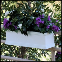 "24"" Laguna Railing Mount Window Box"
