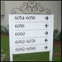 "24"" Ornametal Scroll Sign Header"