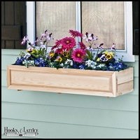 72in. Raised Panel Cedar Window Box with Liner Option