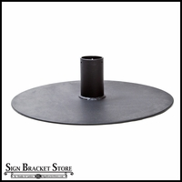24in. Round Base Plate with Flange for 3in. Round pole